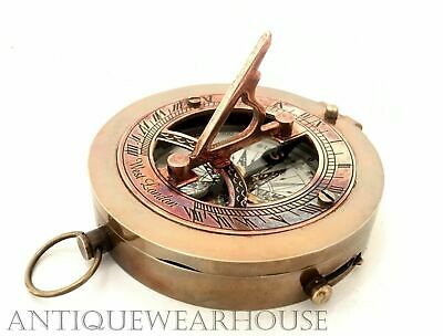 Vintage Brass Antique Working Compass Nautical Astrolabe Collectible nautical
