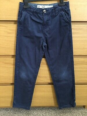 Boys Slim Fit Navy Blue Chinos From Primark Age 8-9 Years