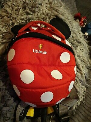 LittleLife red Minnie Mouse Toddler Backpack