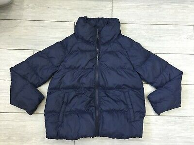 Girls Uniqlo Navy Blue Quilted Padded Jacket, Age 9-10 Years