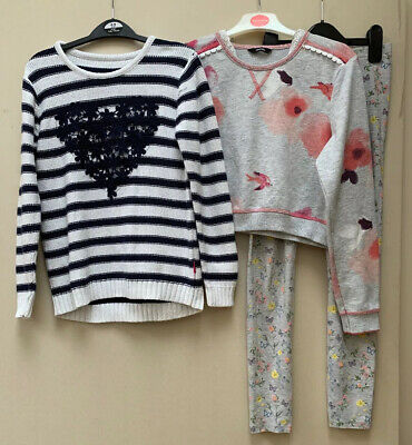 George Girls Top,F&F Leggings And Nutmeg Striped Jumper Aged 11-12 Years