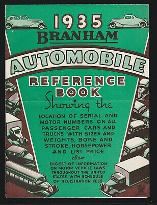 US Vintage 1934 Branham Automobile Reference Foldout Advertising with Letter