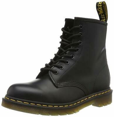 Dr. Martens Unisex Mens Womens 1460 Black Smooth Leather Ankle Boots Size 8 9