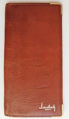 Vintage wallet real leather brown traditional Landlock brand genuine leather