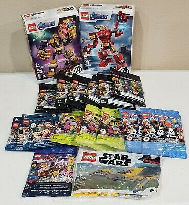Lot Of NEW Lego Minifigures DC Harry Potter Marvel Star Wars 76140 76141 & MORE