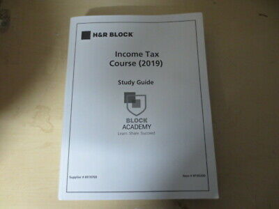 H&R Block Income Tax Course 2019 Study Guide Block Academy book # B190200