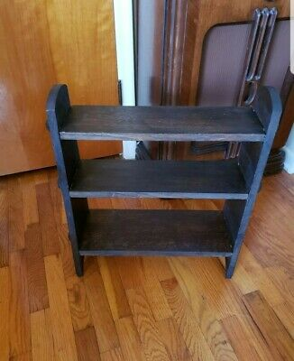 Vintage Arts/Craft/Mission Style Three Tier Oak Shelf