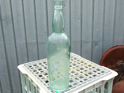 old bottle PICKAXE CLEAR GLASS WINE SHAPE LARGE MONO   RARE