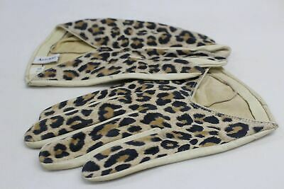 ASPINAL OF LONDON Ladies Leather Cream Leopard Print Evening Gloves 7.5 NEW