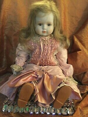 Vintage Porcelain Doll- hand made with soft body