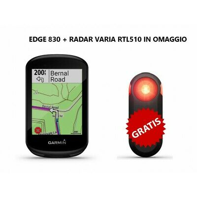Garmin Edge 830 + Radar Varia Rtl510
