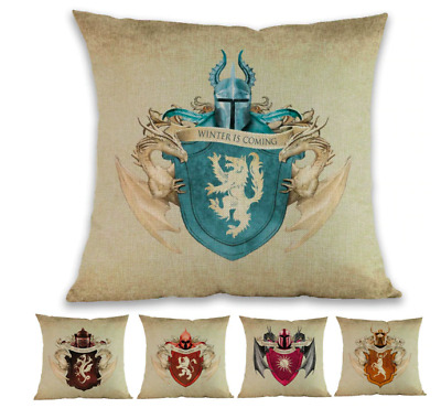 GAME OF THRONES - GREAT HOUSES WESTEROS Cushion Covers! Vintage TV 45cm Gift UK