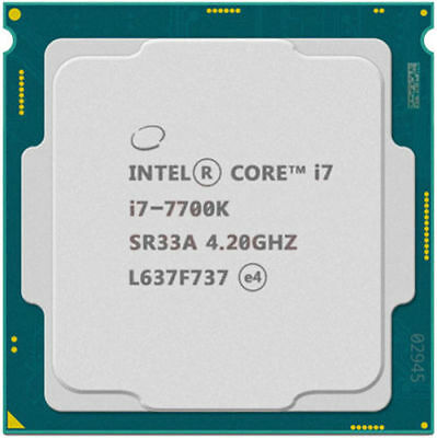 Intel Core I7-7700K 4 X 4.20 GHZ 8HT / Turbo 4.50 GHZ 1151-Kaby Lake Top Tested