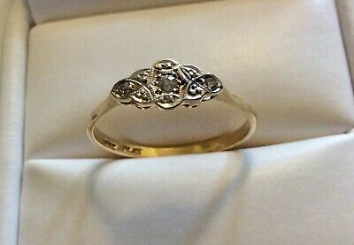 Beautiful Ladies Antique 18CT & PLAT Art Deco Diamond Ring - Size R