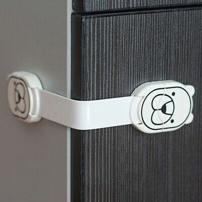 2pc Baby Child Cupboard Cabinet Safety Locks Pet Proofing Door Drawer Fridge Kid