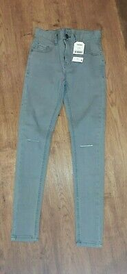 New With Tags Boys Light Grey Skinny Ripped Jeans From Next Age 11 Years.