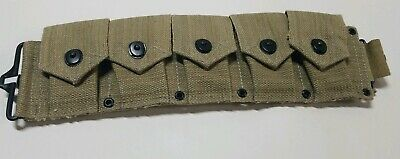 Reproduction collection New WWII WW2 US M1 Garand Cartridge Belt 10 Pocket