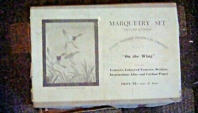 """Antique Marquetry Set """"On The Wing"""" (Boxed)"""