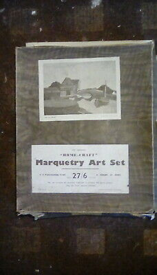 """Antique """"Home-craft"""" Marquetry set (Boxed)"""