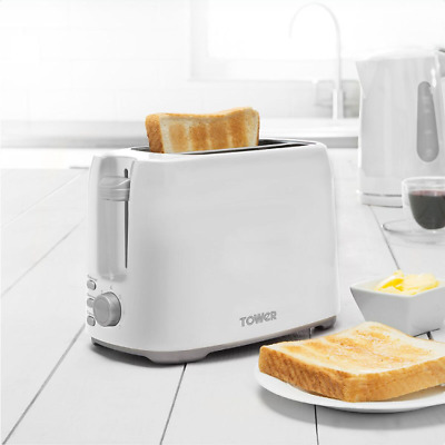 Tower T20013W 2-Slice Toaster - White