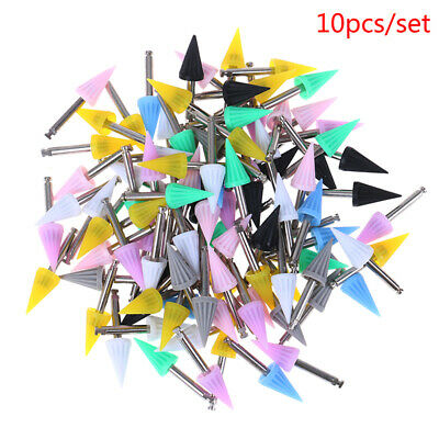 10pcs Dental Polishing Cup Dental Bending Machine Polishing Brush Polisher Cup.