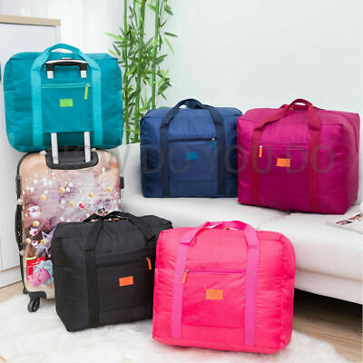 Portable Waterproof Fold-able Travel Luggage Baggage Storage Carry-On Duffle Bag
