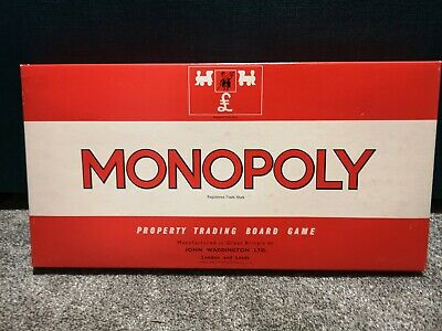 Monopoly Vintage Board Game Classic UK 1970's, 100% Complete Partially Sealed