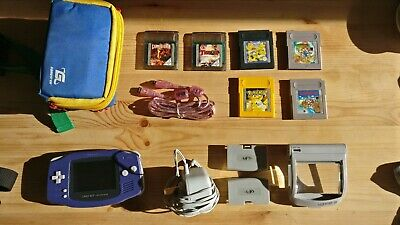 Gameboy Advance, Games, AC Adapter, Magnifier light, Carry Cases! 2 player cable