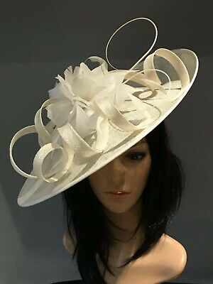 IVORY WEDDING ASCOT DISC HATINATOR Mother Of The Bride Hat OCCASION FORMAL