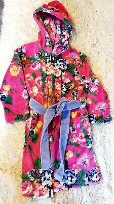Girls Joules Hooded Dressing Gown Age 9-10 Years Excellent Condition