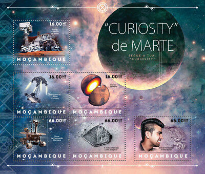 NASA MARS CURIOSITY Exploration Rover Vehicle Space Stamp Sheet/2012 Mozambique
