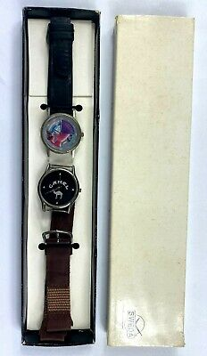2 Vintage Joe Camel Cigarettes Sweda Watches Leather Bands Japan Movement