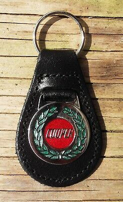 COOPER CLASSIC CAR KEY RING LEATHER FOB.