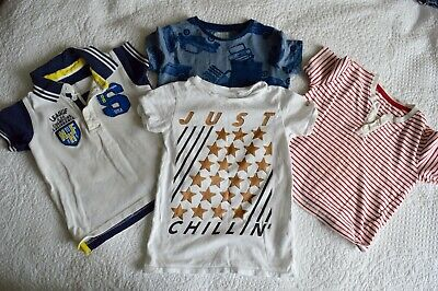 Boys T Shirt Bundle - Age 2-3 Years (very slight stains / good for play school)