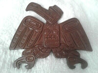 The Thunderbird. Kwakiutl Indian Tribe Hand Craved Wood Wall Art by Philip Thorn