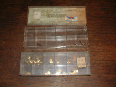 BOX of WATCHMAKERS CENTER STEMS FOR TRAVELLING CLOCKS & WINDERS etc