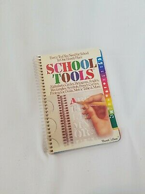 New Vtg 1976 Thumb Ease SCHOOL TOOLS stencil Binder LETTERS SYMBOLS ANGLES OVAL