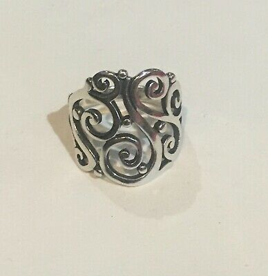 James Avery Open Sorrento Ring Size 8.5 Sterling Silver