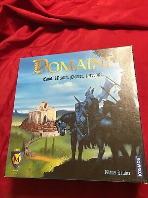 Domaine Strategy Board Game From Catan Designer 2003 Out of Print Complete Rare