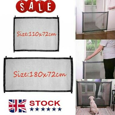 Magic Pet Dog Gate Safety Guard Folding Baby Toddler Stair Gate Isolation Net UK