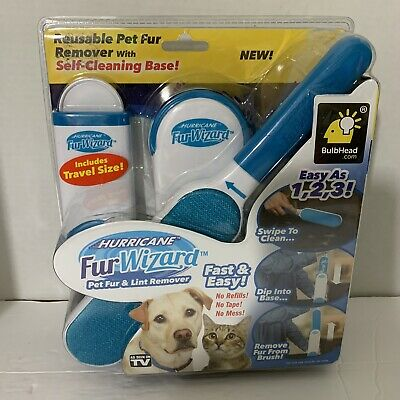 New in Box Hurricane Fur Wizard Pet Hair Remover & Lint Remover by BulbHead