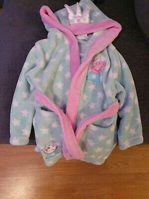 Peppa Pig Girls Dressing gown aged 1-2Years Green And Pink