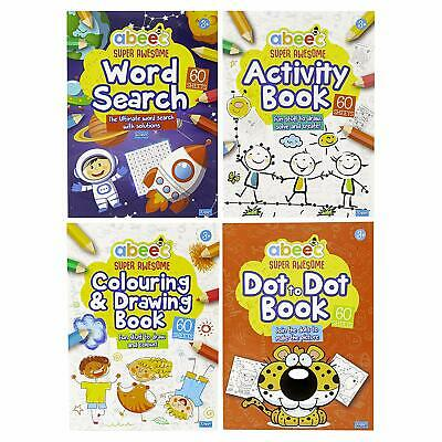 Abeec Activity Books For Children - 4 Contains Word Search, To Dot And A Colour