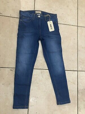 Next Girls Skinny Jeans Age 9 Years Plus Fit BNWT Bright Blue Denim