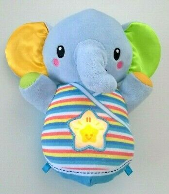 VTech Baby Soothe & Snooze Elephant Plush Blue 0+ Sounds Songs Phrases Light