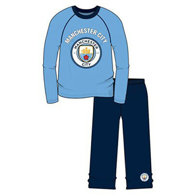 BNWT Official MCFC//Man City Football Boy Wincey Pyjamas 3-10y 100/% Cotton Winter