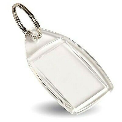 P5 Blank Acrylic Clear Plastic Keyrings with Split Ring to fit 24mm x 35mm Inser