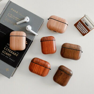 For Apple Airpods Pro 1st 2nd Wood Texture Earphone Soft Charging Case Protector
