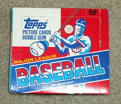1986 Topps baseball cello box non-smoking home