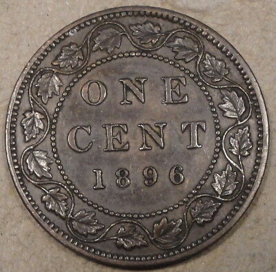 Canada 1896 Large Cent as Pictured